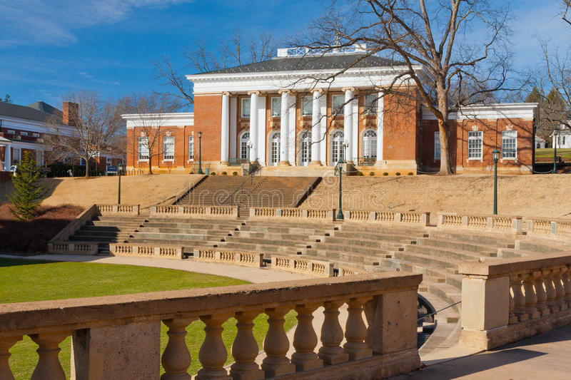 Minor Hall. University of Virginia, Minor Hall and McIntire Amphitheatre, Charlottesville, Virginia stock photos