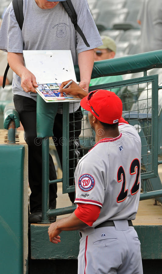 Minor league baseball - autographs royalty free stock images