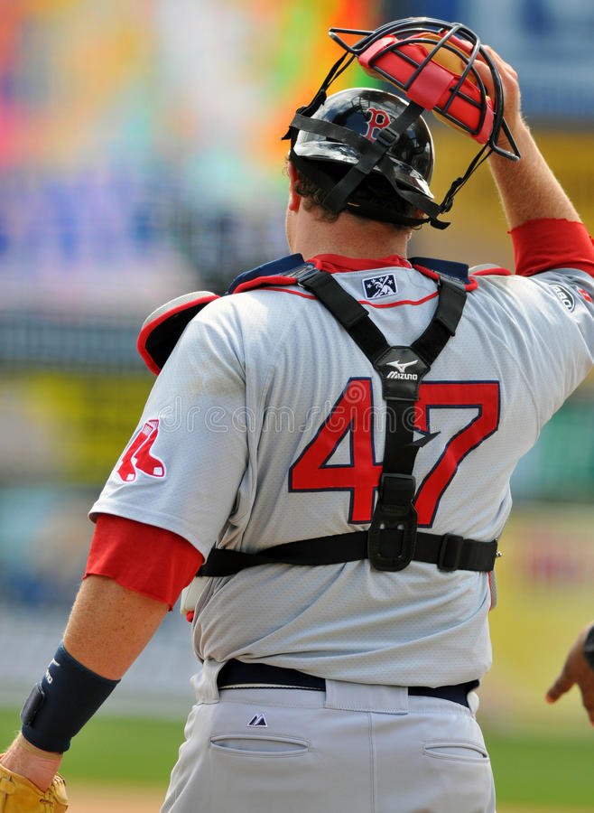 Minor League baseball catcher royalty free stock photos