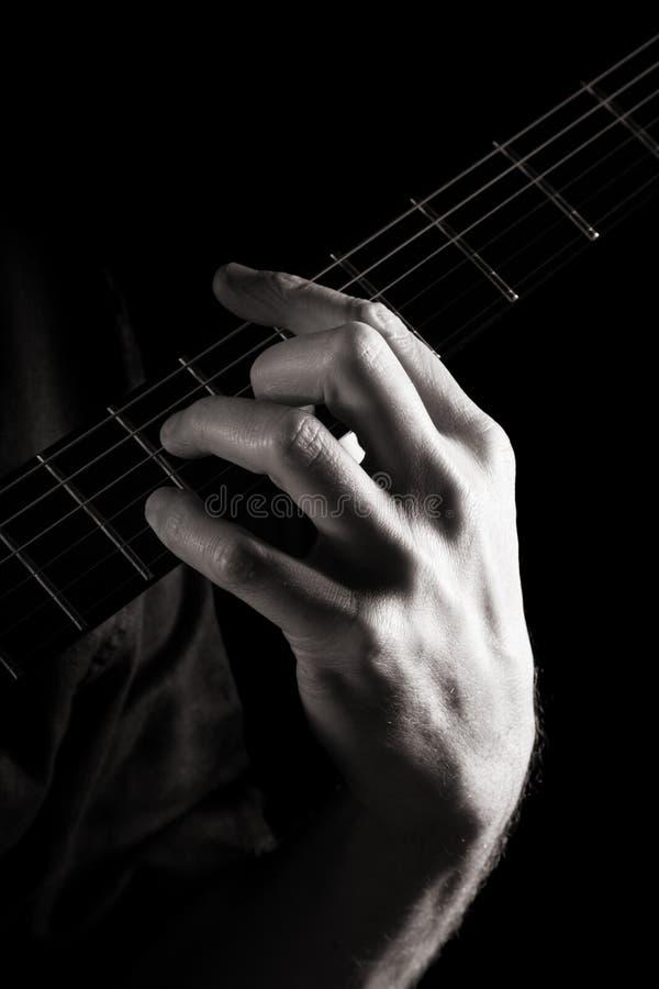 Minor seventh chord (Dm7) stock image. Image of skill - 16503497