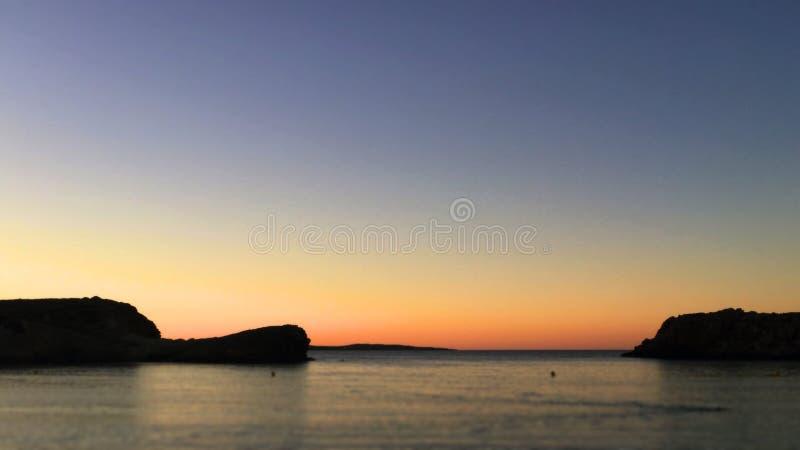 Minorcan silhouette stock photo