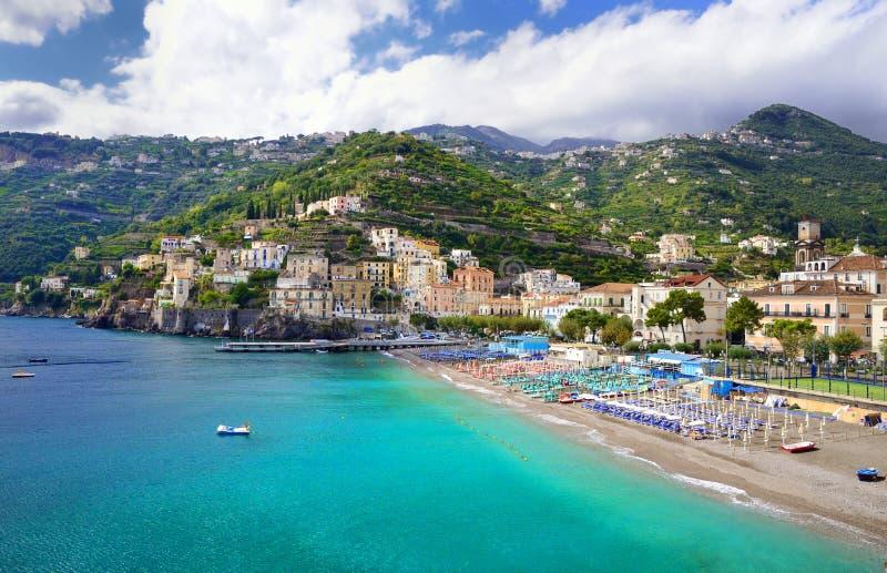 Minori на побережье Амальфи, Италии стоковое фото