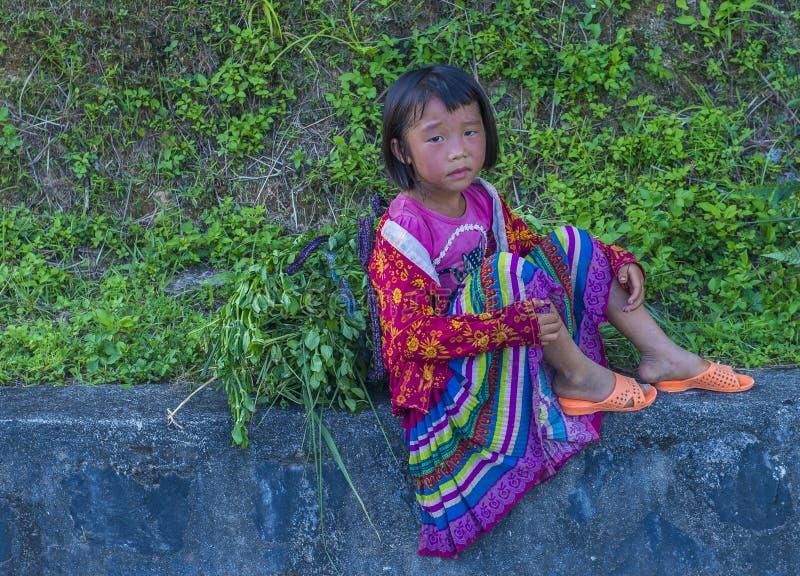Minoria étnica de Hmong em Vietname imagens de stock