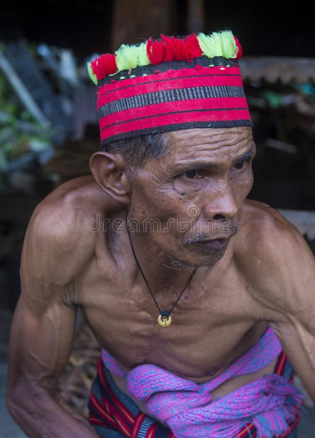 Minorité ethnique d'Ifugao aux Philippines images libres de droits