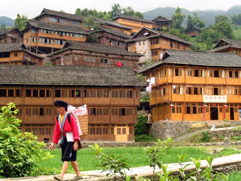 Minorité ethnique de Yao, Longsheng, Chine photographie stock libre de droits