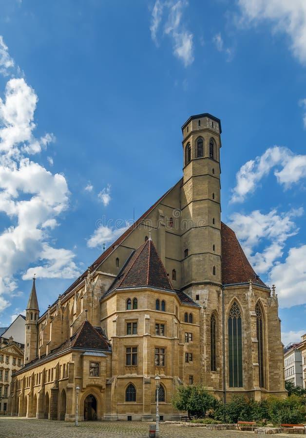 Minoritenkirche в вене, Австрии стоковое фото rf