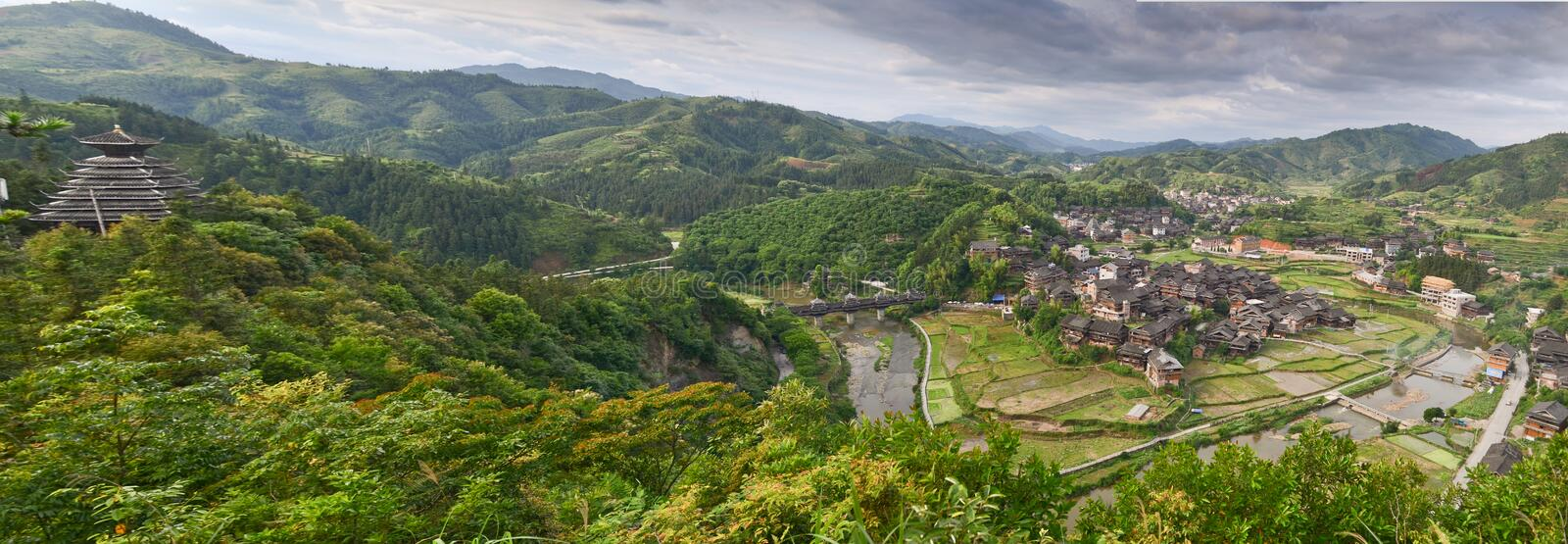 Minority village in China royalty free stock photography