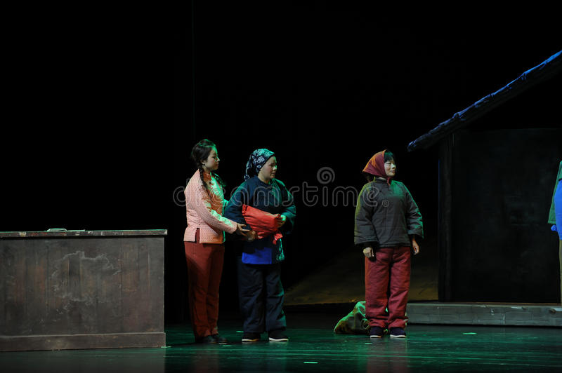 Minority women- Jiangxi opera a steelyard. Jiangxi opera a steelyard is adapted from a true story: the last century fortys, the protagonists father runs an oil royalty free stock photos