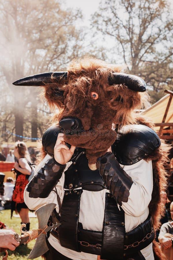 Minotaur en la fantasía del duende justa fotos de archivo