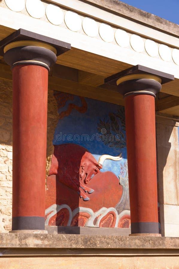 Minotaur - la leyenda de Knossos fotografía de archivo libre de regalías