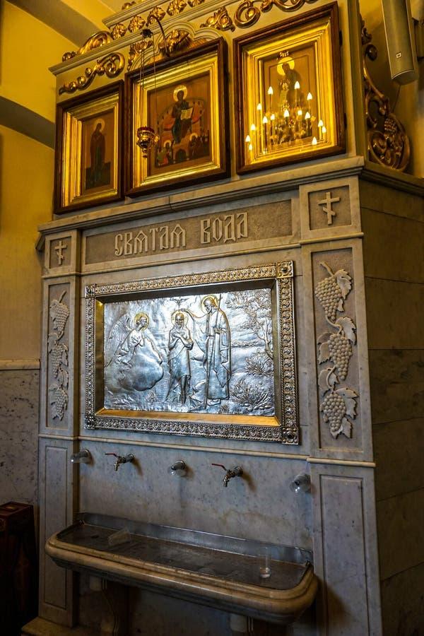 Minsk Świętego ducha Katedralna Święta woda obraz royalty free