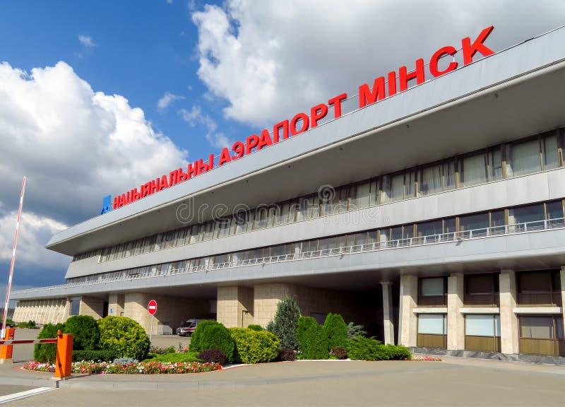 Minsk - aeropuerto nacional foto de archivo
