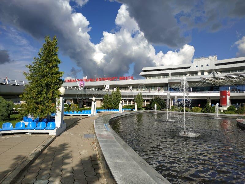 Minsk - aeropuerto nacional imagenes de archivo