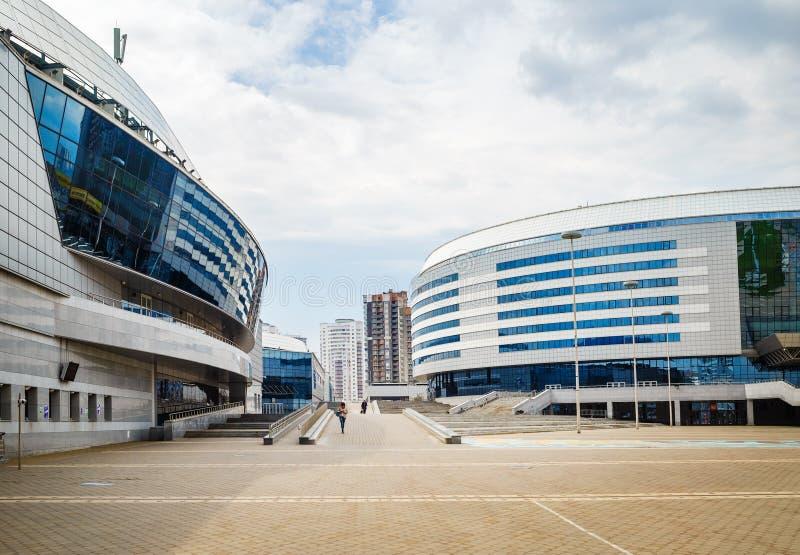 Minsk-arena - sport e complesso di spettacolo fotografia stock
