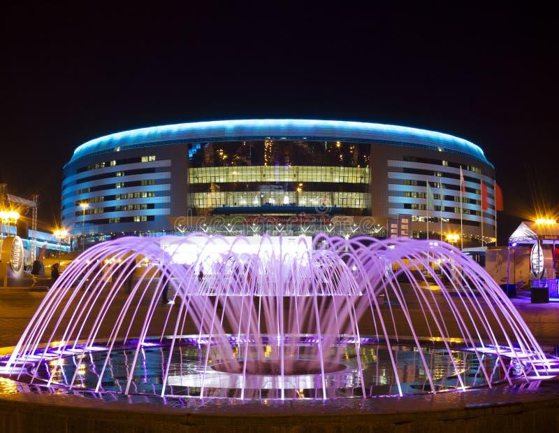 Minsk arena, Vitryssland royaltyfria foton
