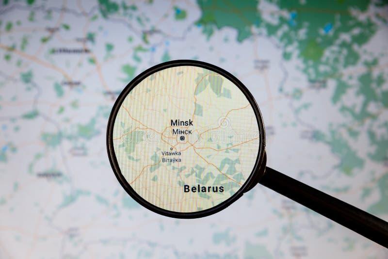 Minsk, Belarus correspondencia pol?tica fotos de archivo