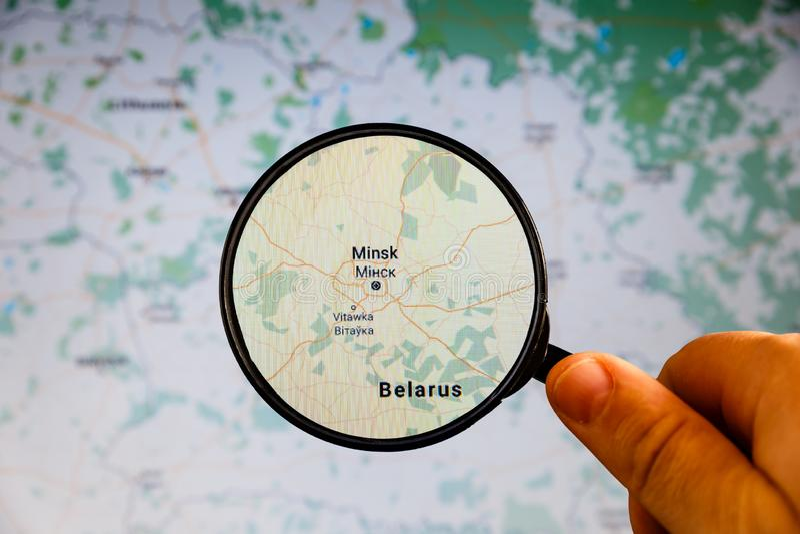 Minsk, Belarus correspondencia pol?tica foto de archivo