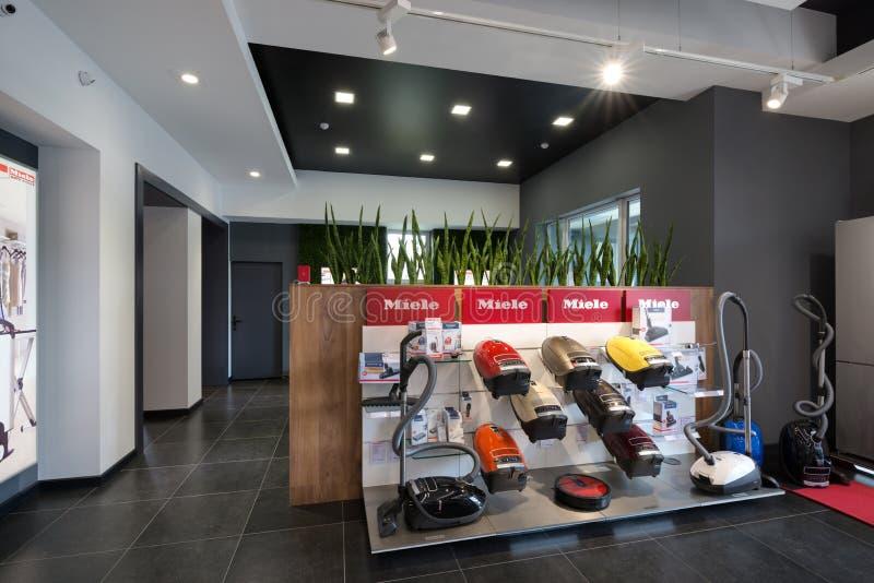 Minsk, Belarus - 25 juin 2017 : Bureau de vente de Miele à Minsk Belarus image stock