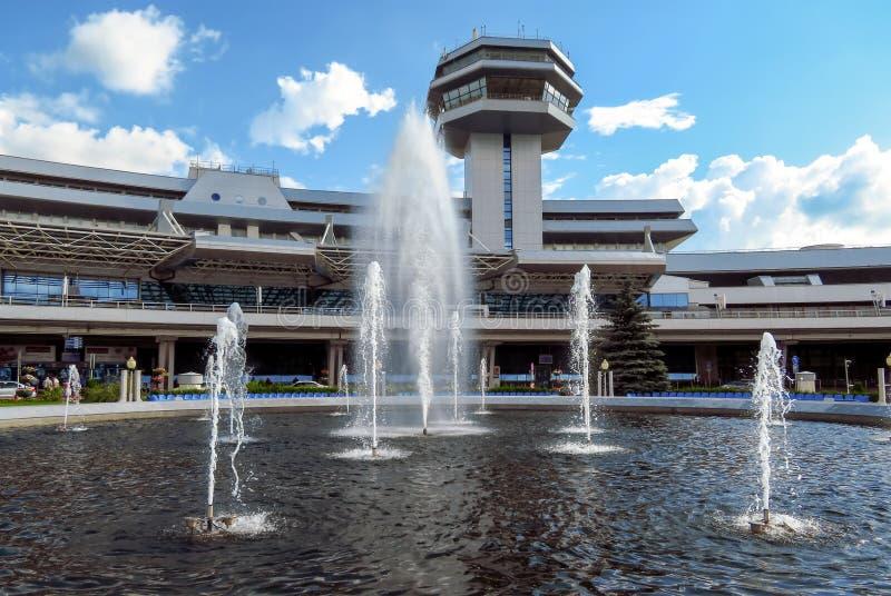 Minsk-E - National Airport. Minsk, Belarus - July 14, 2018: Minsk National Airport former name Minsk-2 is the main international airport in Belarus royalty free stock photo