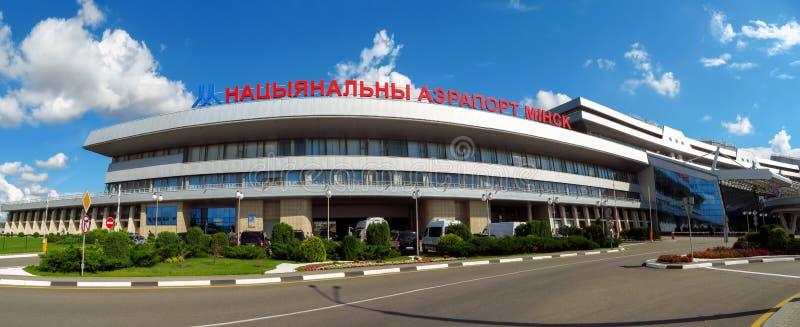 Minsk-E - National Airport. Minsk, Belarus - July 14, 2018: Minsk National Airport former name Minsk-2 is the main international airport in Belarus royalty free stock images