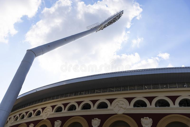 Minsk, Belarus, June 9, 2019. 2 European Games. One of the stadiums where the European Games will be held.  stock photography