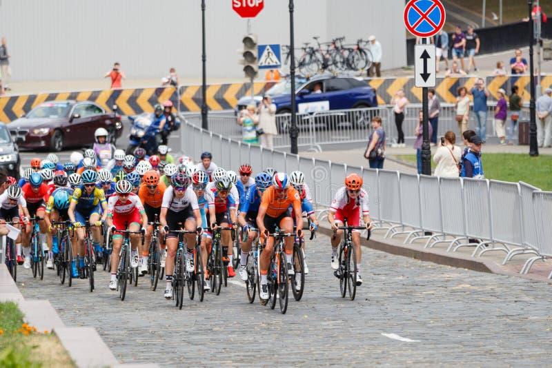 MINSK, BELARUS - 22 June 2019: 2nd European Games Women`s cycle road race.  stock photo