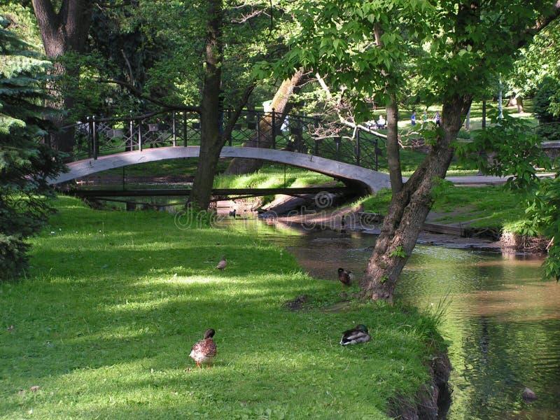 Minsk Belarus Maxim Gorky Park images stock