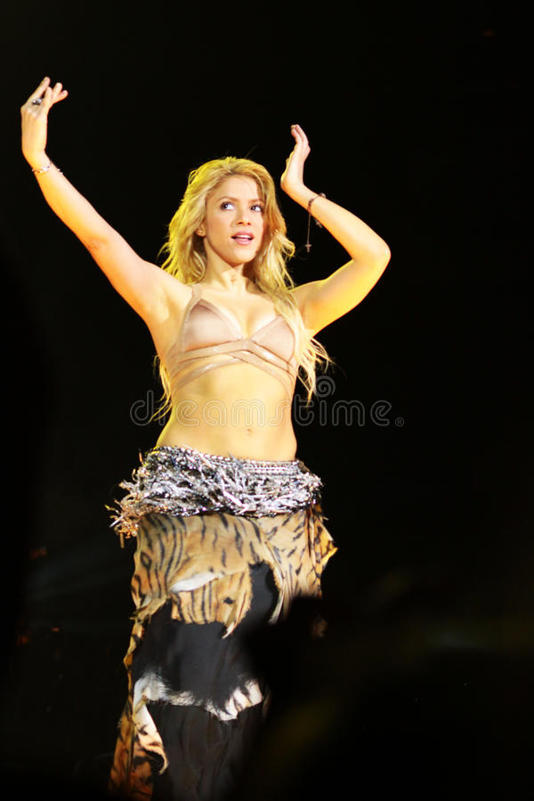 MINSK, BELARUS - MAY 20: Shakira performs at Minsk-Arena on May 20, 2010 in Minsk, Belarus stock photos