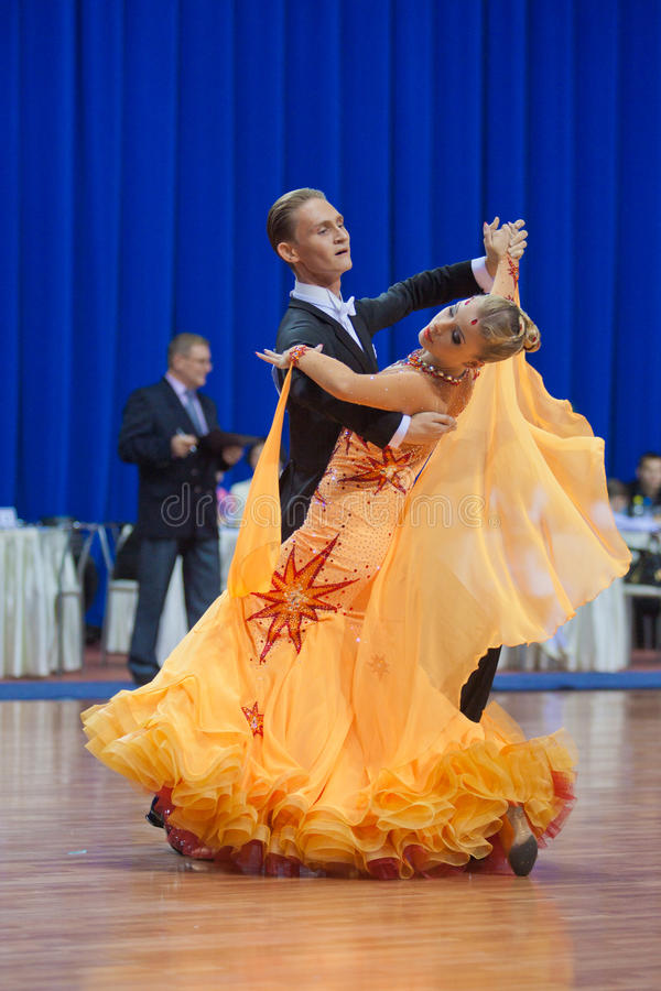 Free MINSK-BELARUS, OCTOBER 9:Adult Dance Couple Stock Photos - 21630943