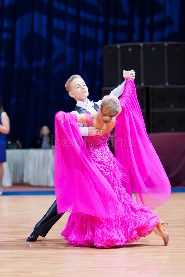 Free MINSK-BELARUS, OCTOBER 9:junior Dance Couple Royalty Free Stock Photos - 21631268