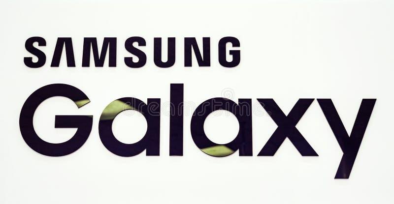 Minsk, Belarus, September 1, 2018: Logo Samsung Galaxy In Samsung ...