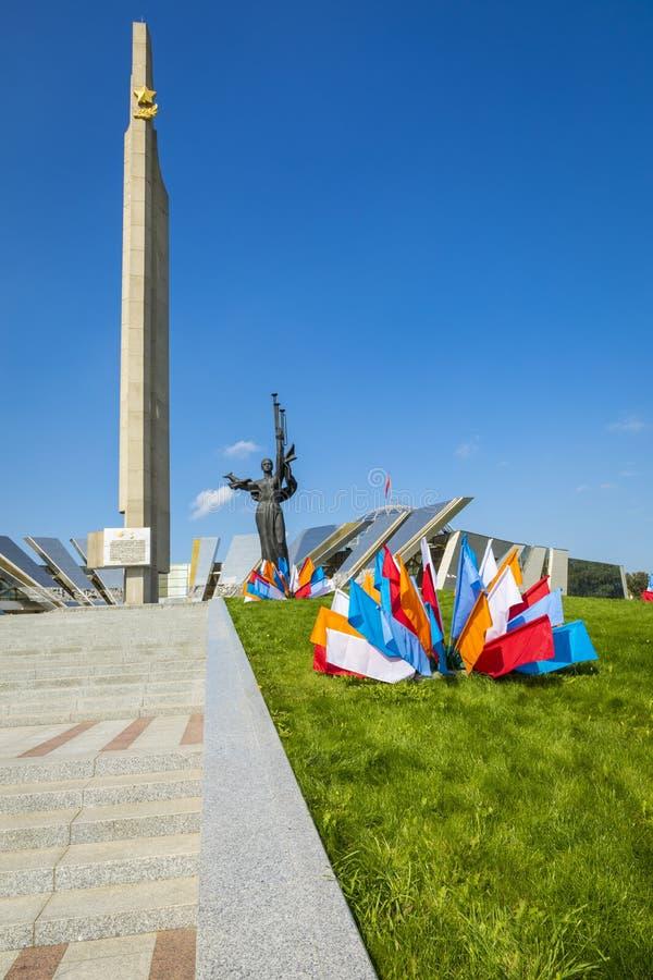 MINSK, BELARUS - SEPTEMBER 11, 2018: Monument Near Building Belorussian Museum Of The Great Patriotic War In Minsk, Belarus stock photos