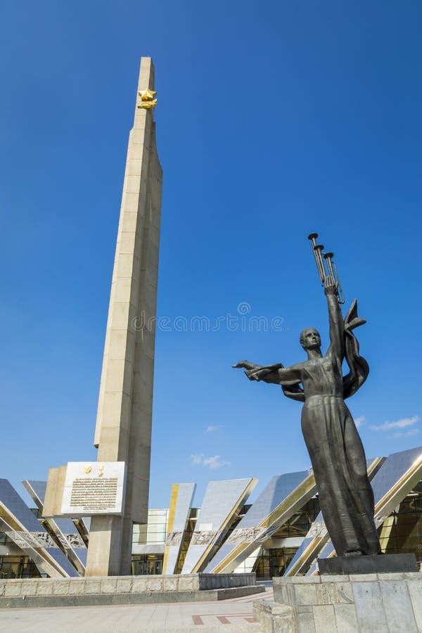 MINSK, BELARUS - SEPTEMBER 11, 2018: Monument Near Building Belorussian Museum Of The Great Patriotic War In Minsk, Belarus royalty free stock photo