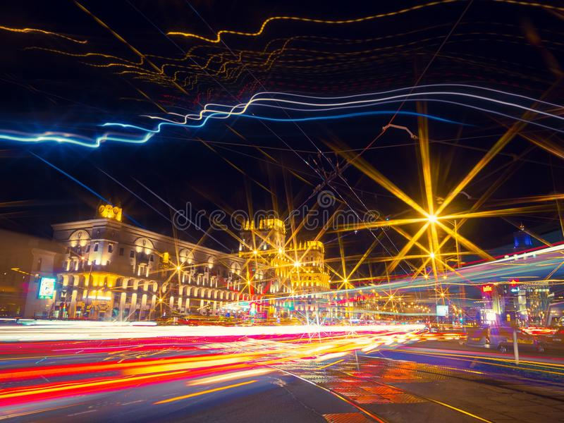 Stretched lights royalty free stock image