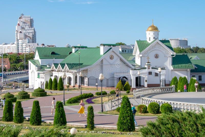 Minsk, Białoruś, 2019 kapitał i miejsce drugi, lato, sporty, Europejskie gry obraz stock