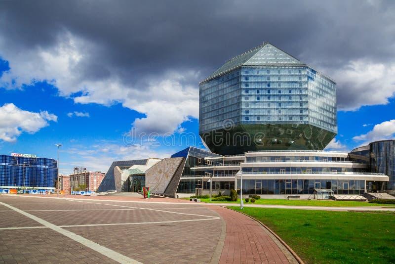 Minsk, biblioteca nazionale fotografie stock