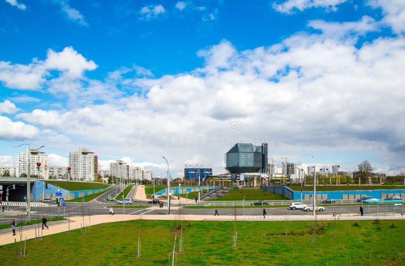 Minsk, biblioteca nazionale fotografia stock libera da diritti