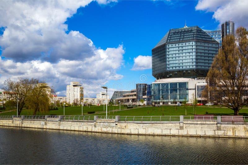 Minsk, biblioteca nazionale fotografie stock libere da diritti