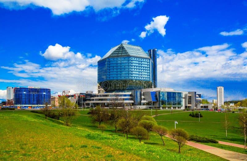 Minsk, Bibliothèque nationale photo libre de droits