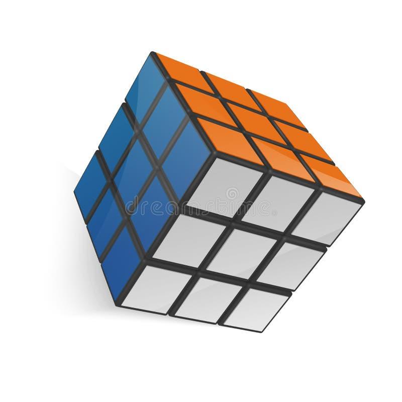 Minsk, Bielorrússia, o 4 de fevereiro de 2018 ilustração editorial do vetor Cubo de Rubik ilustração do vetor