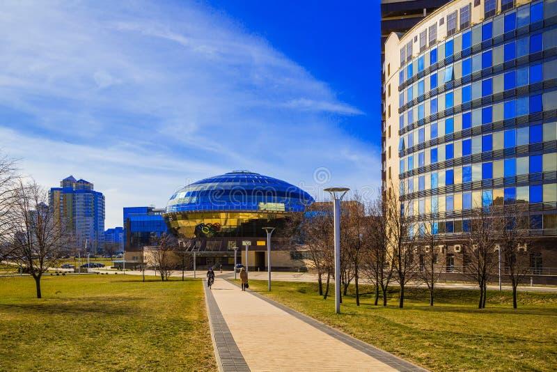 Minsk, Bielorrusia, contiene al comité nacional de Olimpic imágenes de archivo libres de regalías