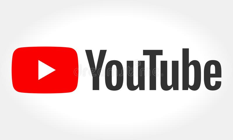 MINSK, BIELORRUSIA 10 DE MAYO DE 2018: Logotipo de YouTube impreso en el papel YouTube es un sitio web de vídeo-distribución El s libre illustration