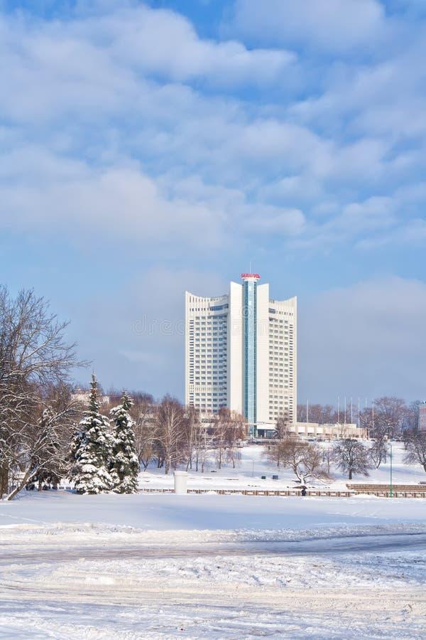 minsk Hotel Weißrussland stockfotos