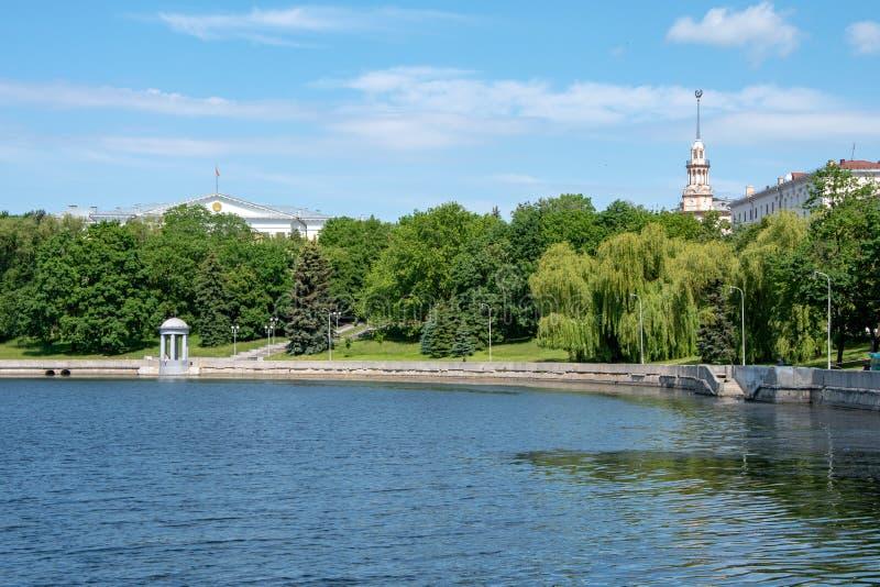 Minsk, le Belarus, 2019, le capital et l'endroit du deuxième, été, sports, jeux européens image stock