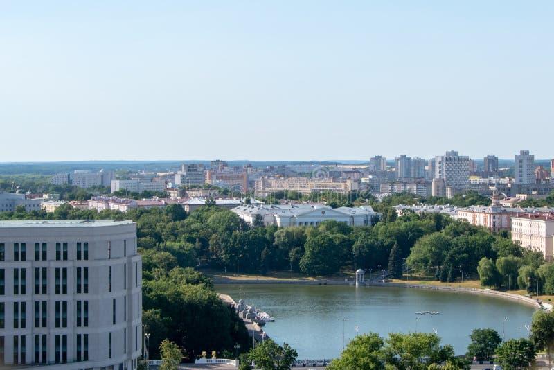 Minsk, le Belarus, 2019, le capital et l'endroit du deuxième, été, sports, jeux européens photo stock