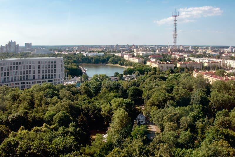 Minsk, le Belarus, 2019, le capital et l'endroit du deuxième, été, sports, jeux européens images libres de droits