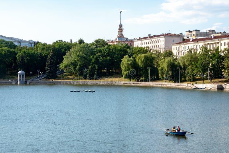 Minsk, le Belarus, 2019, le capital et l'endroit du deuxième, été, sports, jeux européens photographie stock libre de droits