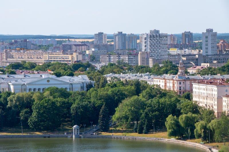 Minsk, le Belarus, 2019, le capital et l'endroit du deuxième, été, sports, jeux européens images stock