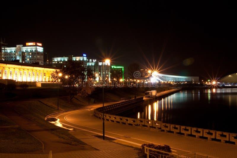 Download Minsk na noite imagem de stock editorial. Imagem de equipamento - 16872919