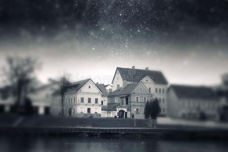 Minsk-Nacht stockbild